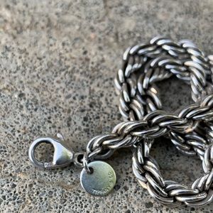 Tiffany and Co Sterling Rope Bracelet
